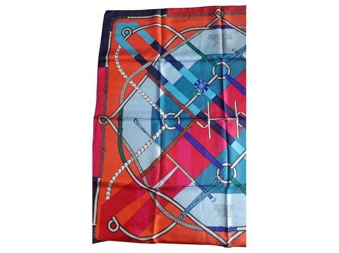 Hermès Silk scarves Silk scarves Silk Orange ref.205235