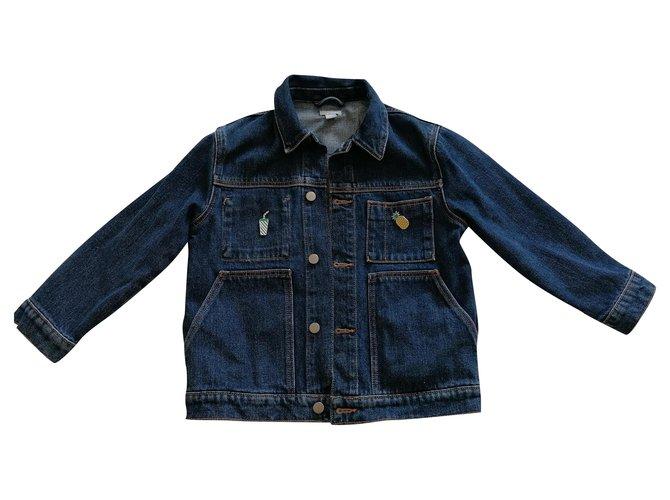 Blousons, manteaux filles Cos Classic Coton Bleu ref.205425