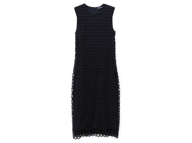 Alexander Mcqueen Dresses Black Silk Viscose Polyamide  ref.205517