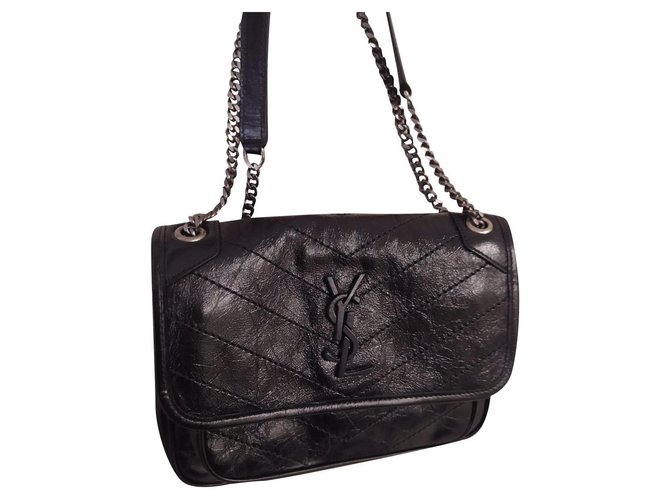 Saint Laurent Niki baby black color Handbags Lambskin Black ref.205617