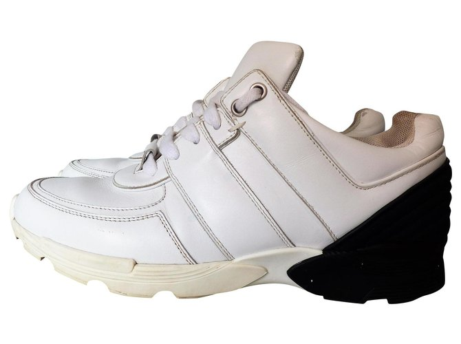 Chanel Sneakers Sneakers Leather White ref.208114