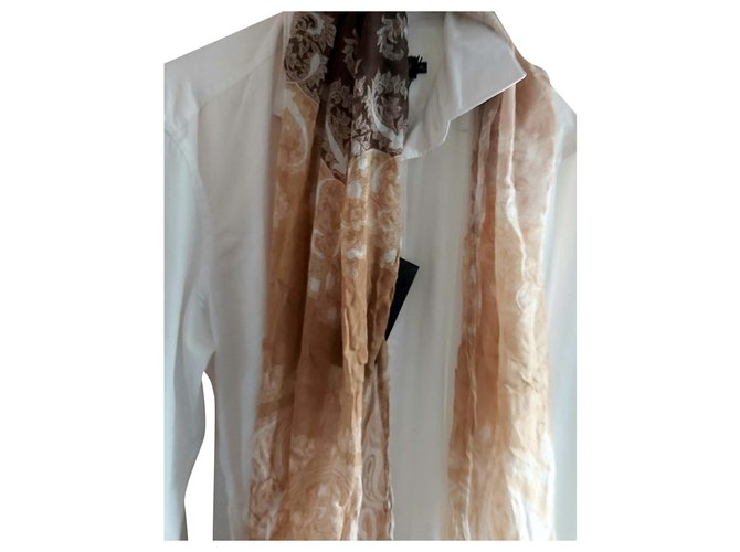 Autre Marque New FILIBUSTERO CHECHE Men Scarves Modal Beige,Eggshell,Chocolate ref.209154