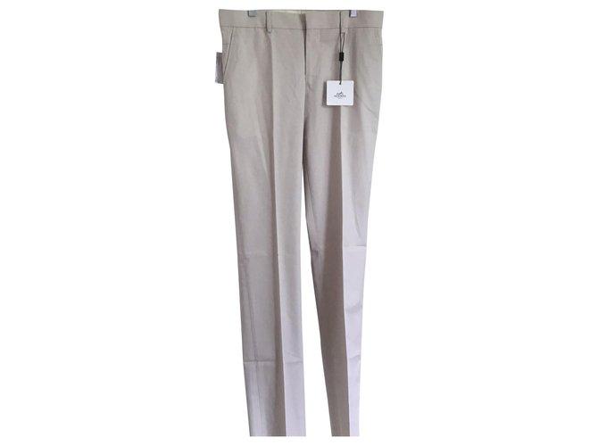 Hermès Saint Germain Pants Cotton White ref.209499