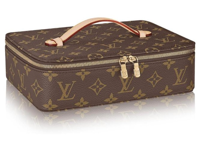 Louis Vuitton LV Nice Jewelry case new Purses, wallets, cases Leather Brown ref.210890