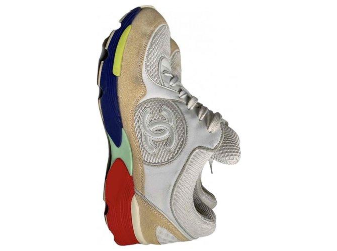 Cambon Chanel Sneakers Beige  ref.210921