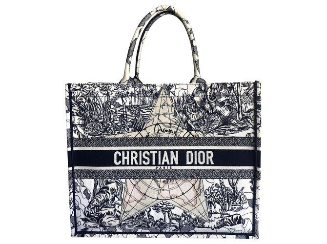 Dior DIOR BOOK TOTE Handbags Cotton Blue ref.211196