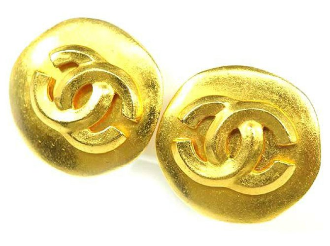 Chanel Chanel 96P round-shaped coco mark GP Womens earrings gold Misc Other Other ref.211974