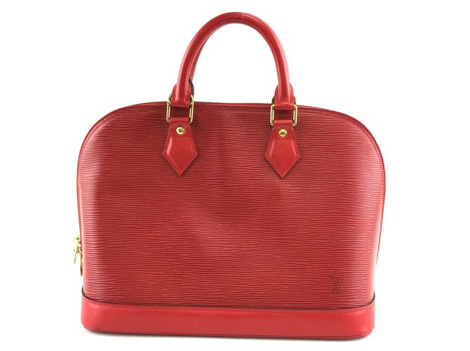 Louis Vuitton Louis Vuitton Alma PM Red Epi Leather Handbags Leather Red ref.212270