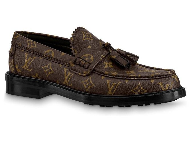 Louis Vuitton LV Voltaire Loafer new Loafers Slip ons Leather Brown ref.212589
