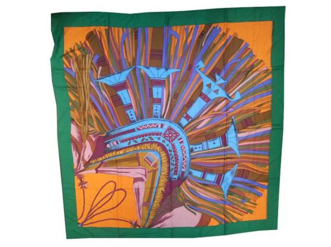 Hermès Desert leathers Silk scarves Cashmere Multiple colors ref.213055