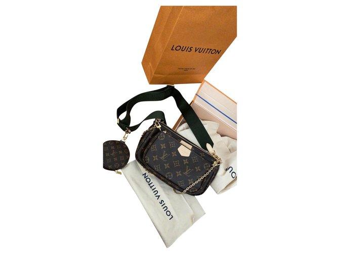 Louis Vuitton Louis Vuitton Multipochette Handbags Cloth Khaki ref.213844