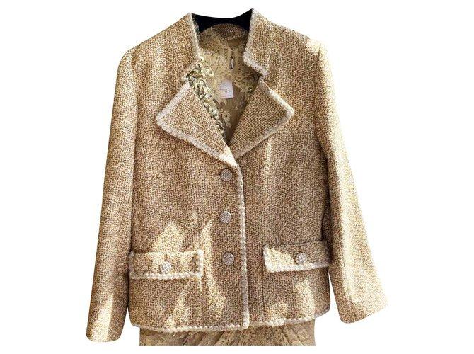Chanel Paris-Versailles metallic tweed jacket Jackets Tweed Golden ref.241222