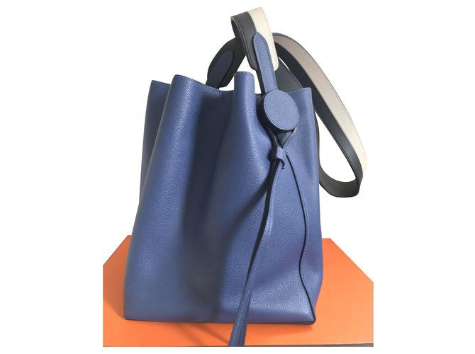 Hermès Licol 17 Bag Handbags Leather Blue ref.214442
