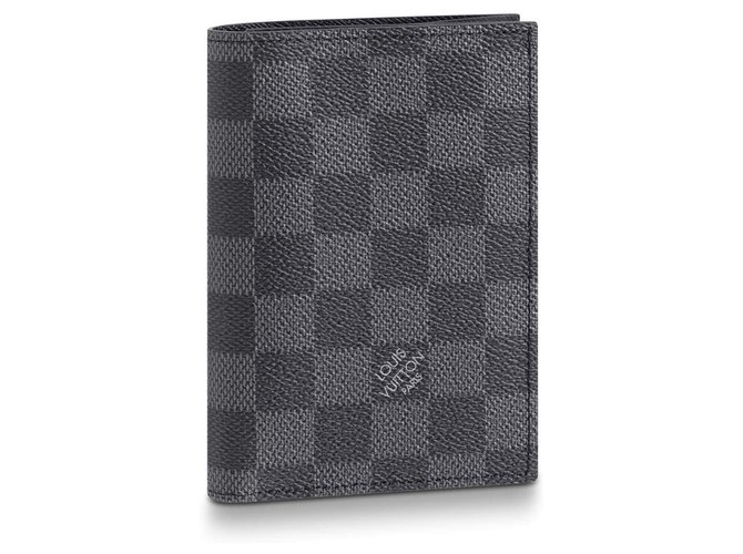 Louis Vuitton LV passport cover new Purses, wallets, cases Leather Grey ref.214504