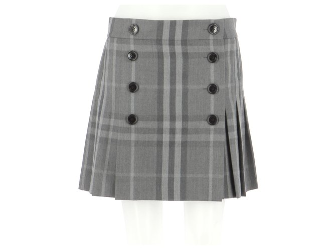 Burberry Skirt suit Skirts Wool Grey ref.214720