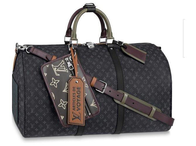 Louis Vuitton Keepall Louis Vuitton patchwork new Bags Briefcases Leather Grey ref.214734
