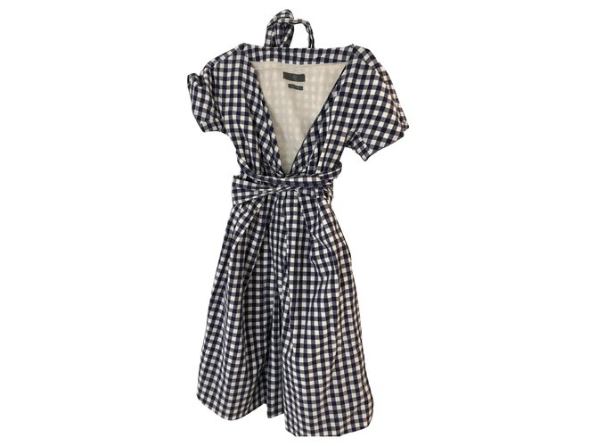 Alexander Mcqueen Dresses Dresses Cotton Navy blue ref.214772