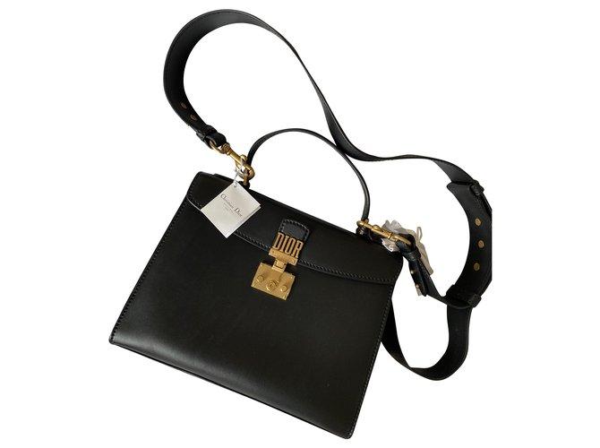 Christian Dior Dioraddict Top handle bag Black Leather  ref.215474