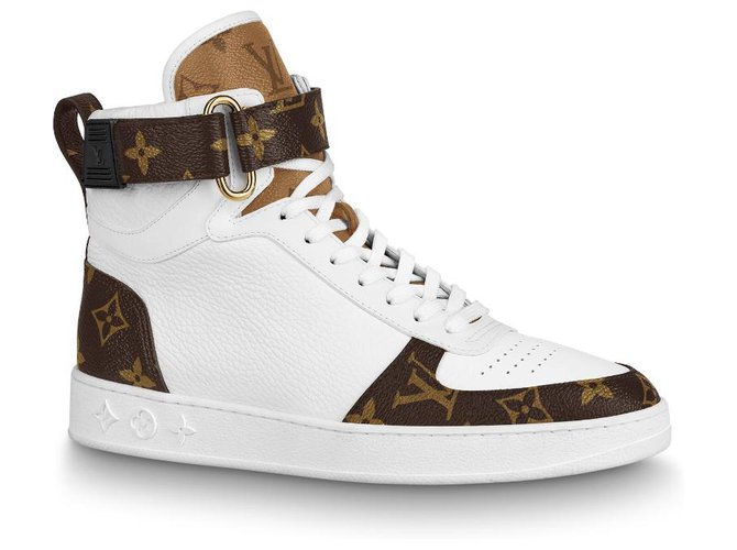 Louis Vuitton LV boombox trainer boots new Sneakers Leather White ref.215539