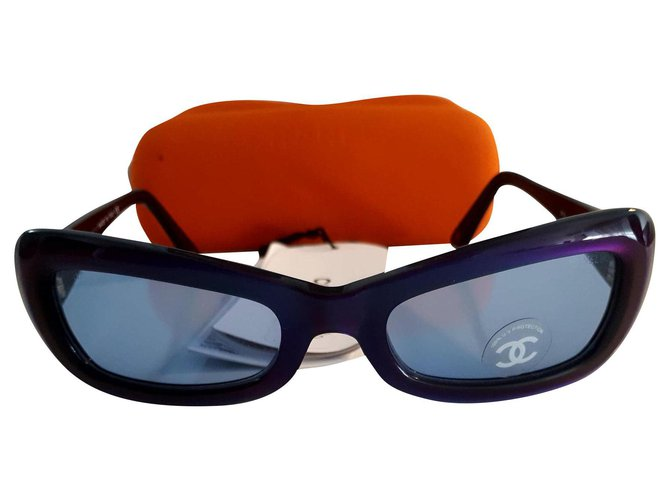 Chanel Sunglasses Sunglasses Plastic Blue ref.215774