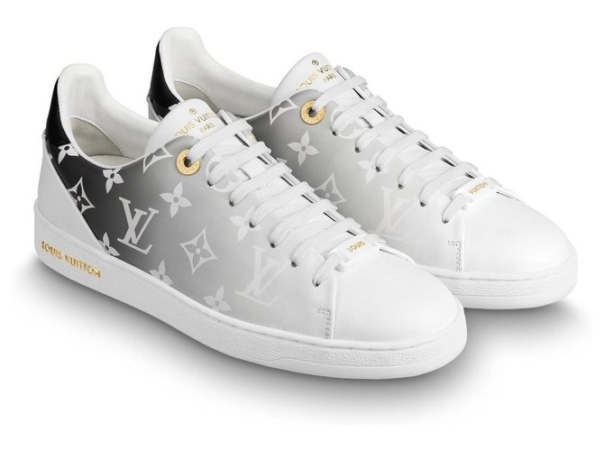 Louis Vuitton LV Frontrow trainers noir Sneakers Leather White ref.216166