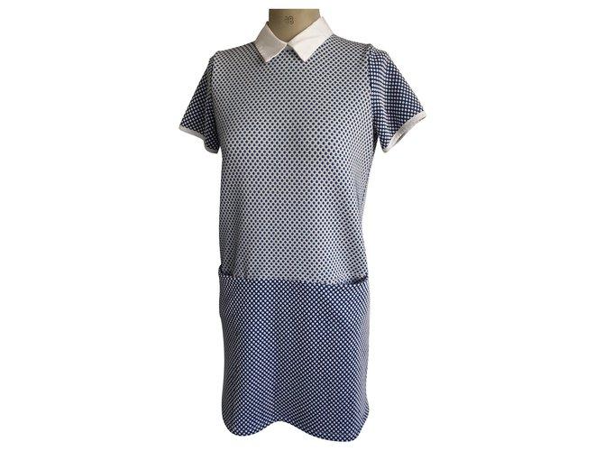 Autre Marque Dresses White Blue Viscose Elastane  ref.217673