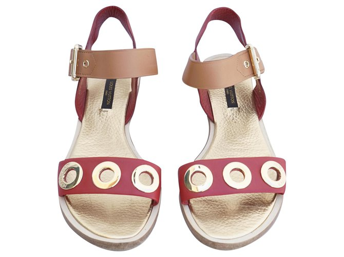 Louis Vuitton Sandals Sandals Leather Red ref.218212