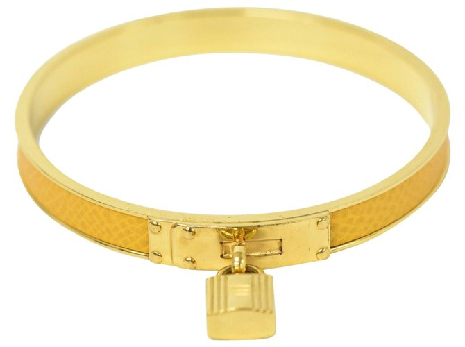 Bracelets Hermès hermes kelly Plaqué or Jaune ref.218593