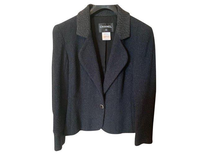 Chanel Chanel Jackets Tweed Black ref.219532