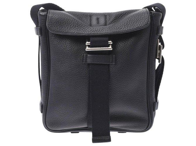 Hermès Hermès Shoulder bag Handbags Leather Black ref.219748