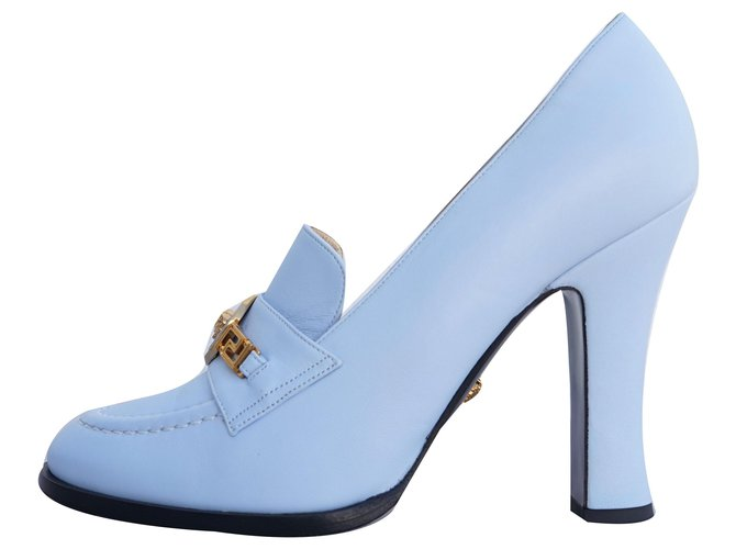 Versace Heels Heels Leather Light blue