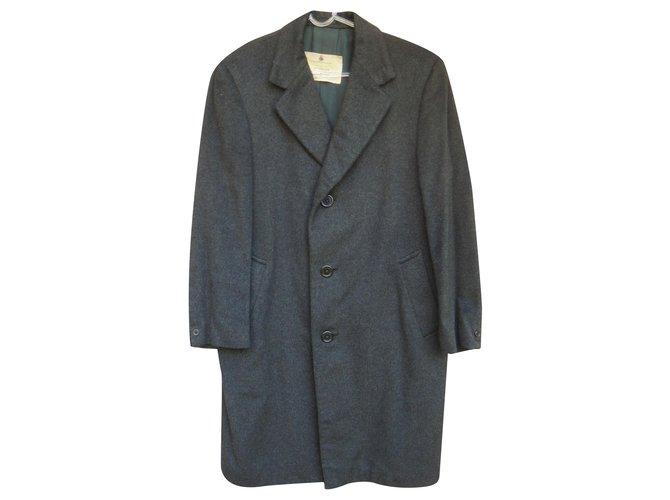 vintage Aquascutum coat in pure cashmere 48 Dark grey  ref.220683