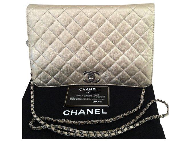 Chanel Handbags Handbags Leather Golden ref.221233