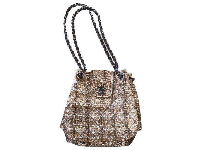 Chanel Handbags Handbags Pony-style calfskin Brown ref.221363