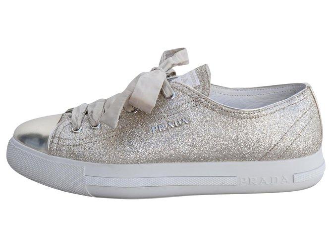 Prada Sneakers Sneakers Fur Golden ref