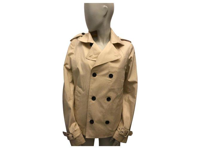 Paul & Joe Trench beige Men Coats Outerwear Cotton Beige ref.221487