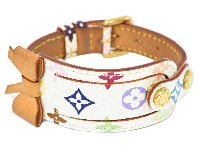 Bracelets Louis Vuitton Adresse de la porte Louis Vuitton Toile Blanc ref.221539