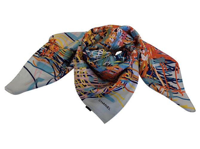 SCARF CHANEL SILK Multiple colors  ref.221616
