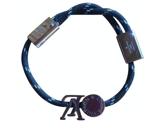 Bracelets Louis Vuitton Bracelets Toile Bleu Marine ref.221638