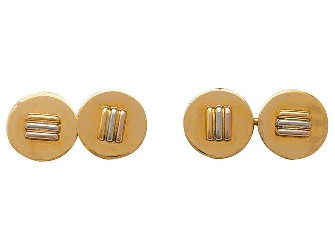Bagues Cartier Boutons de manchette Cartier trois ors. Autre Autre ref.222407