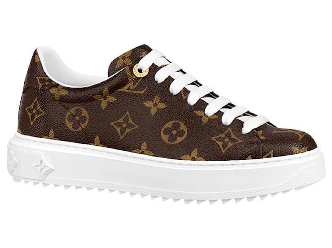 Louis Vuitton LV monogram sneakers Sneakers Leather Brown ref.223163