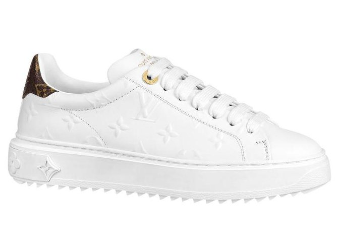 Louis Vuitton LV sneakers Time Out Sneakers Leather White ref.223164