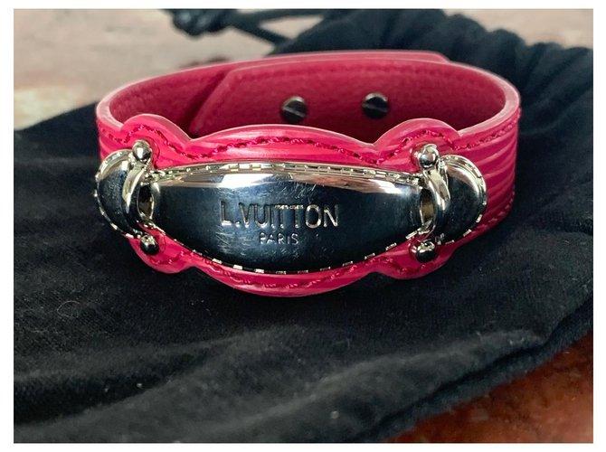 Bracelets Louis Vuitton Bracelet Louis Vuitton Cuir Rose ref.223277