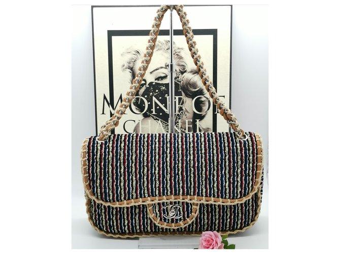 Sacs à main Chanel Edition limitée St Tropez Tweed Multicolore ref.223321