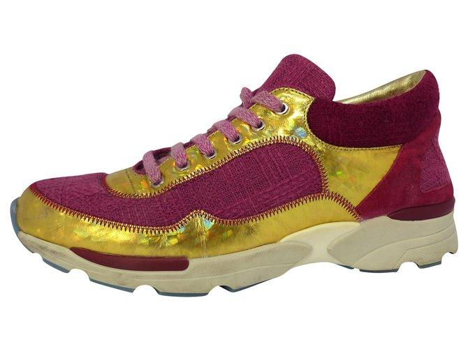 Chanel Sneakers Sneakers Tweed Pink ref.224202