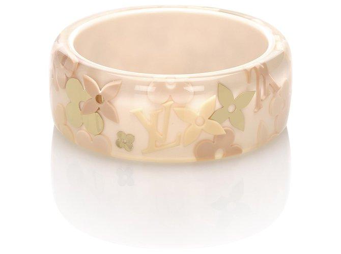 Bracelets Louis Vuitton Bracelet Jonc Louis Vuitton Rose Farandole Plastique,Résine Rose,Autre ref.224627