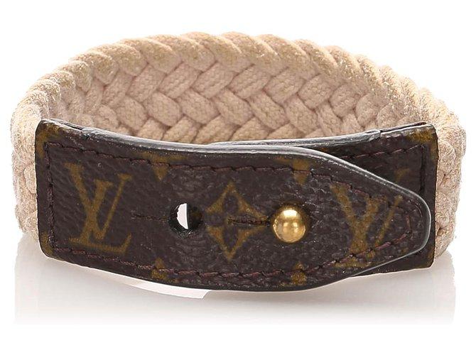 Bracelets Louis Vuitton Bracelet monogramme marron Louis Vuitton Autre,Toile,Tissu Marron,Blanc ref.224668
