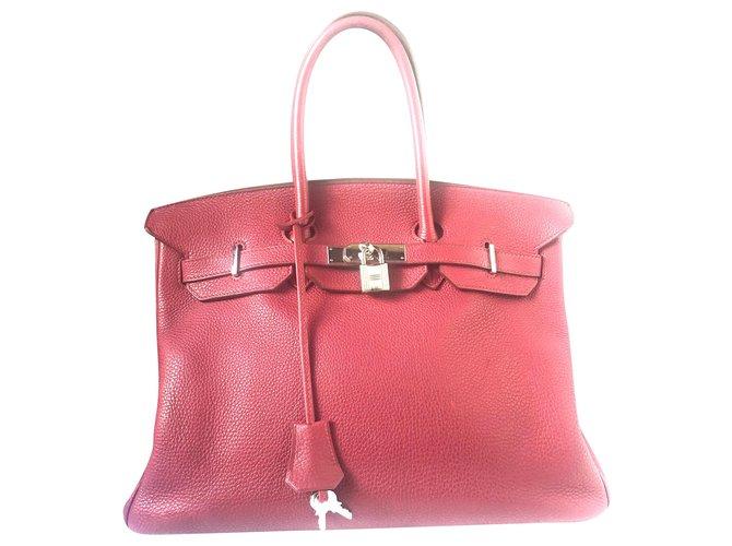 Hermès Birkin 35 Cuir Violet  ref.225275