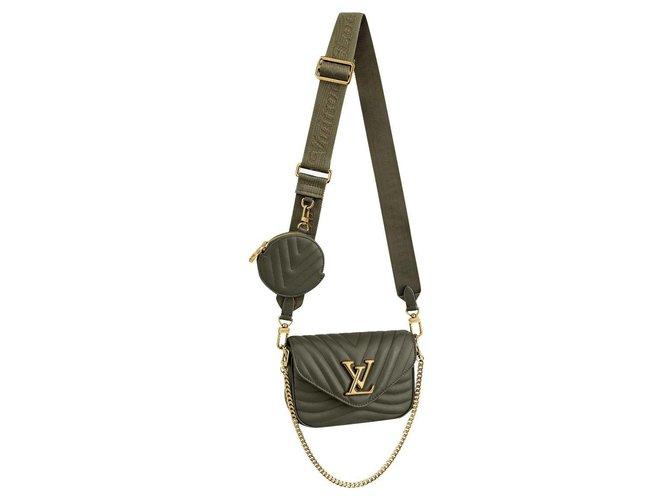Louis Vuitton LV new wave multi pochette Handbags Leather Green ref.225304