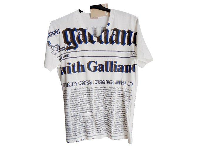 John Galliano Tees Tees Cotton Beige ref.225440